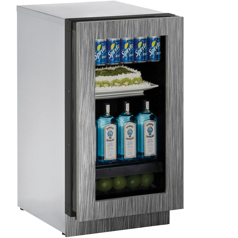 U-Line 18-In. Modular 3000 Series Integrated Frame Glass Door Refrigerator