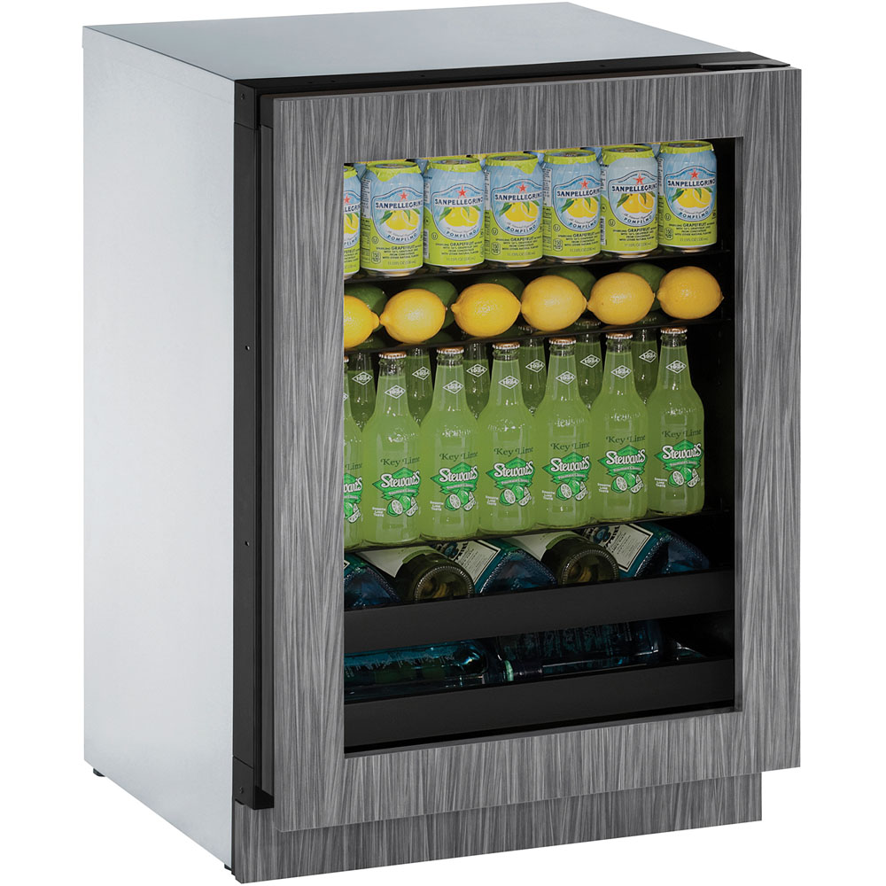 U-Line 24-In. Modular 3000 Series Beverage Center with Integrated Frame Door with Reversible Hinge