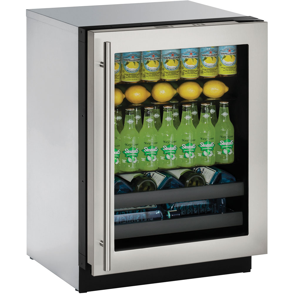 U-Line 24-In. Modular 3000 Series Beverage Center with Stainless Frame Left-Hand Door