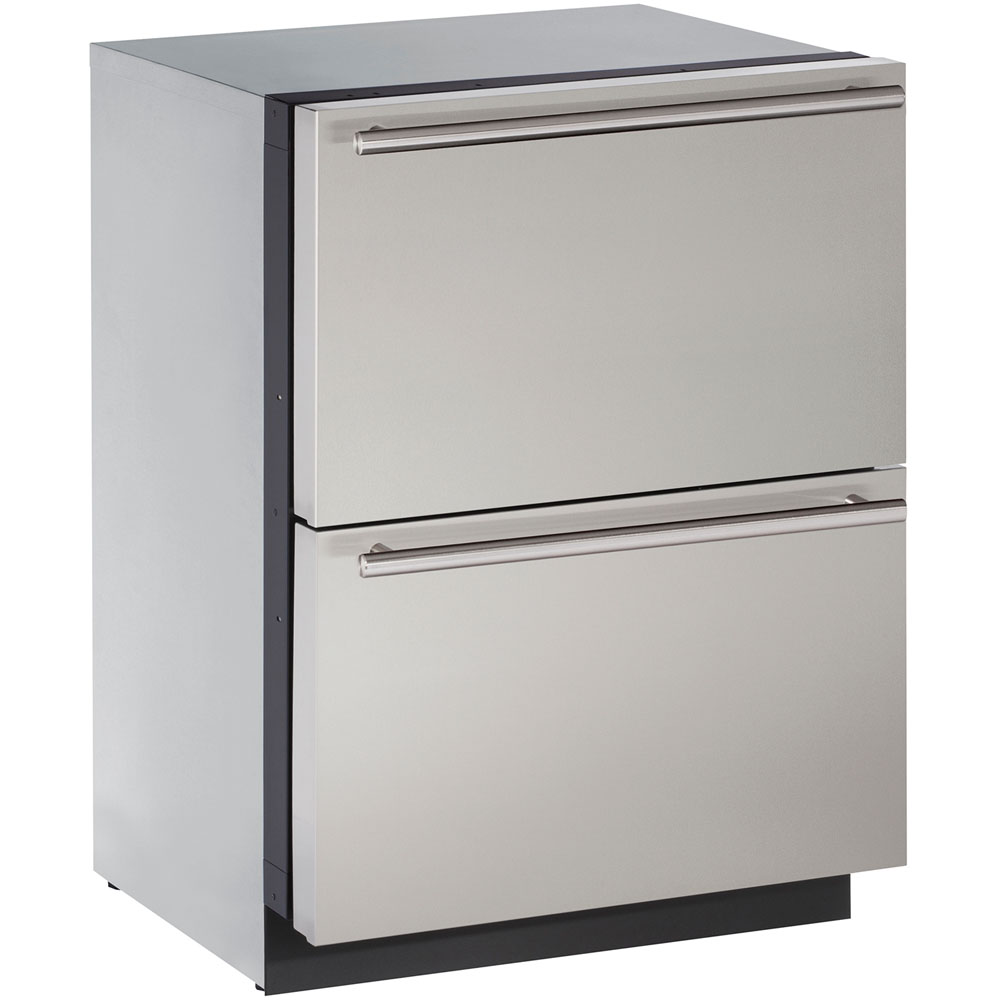 U-Line 24-In. Modular 3000 Series Stainless Solid Refrigerator Drawers