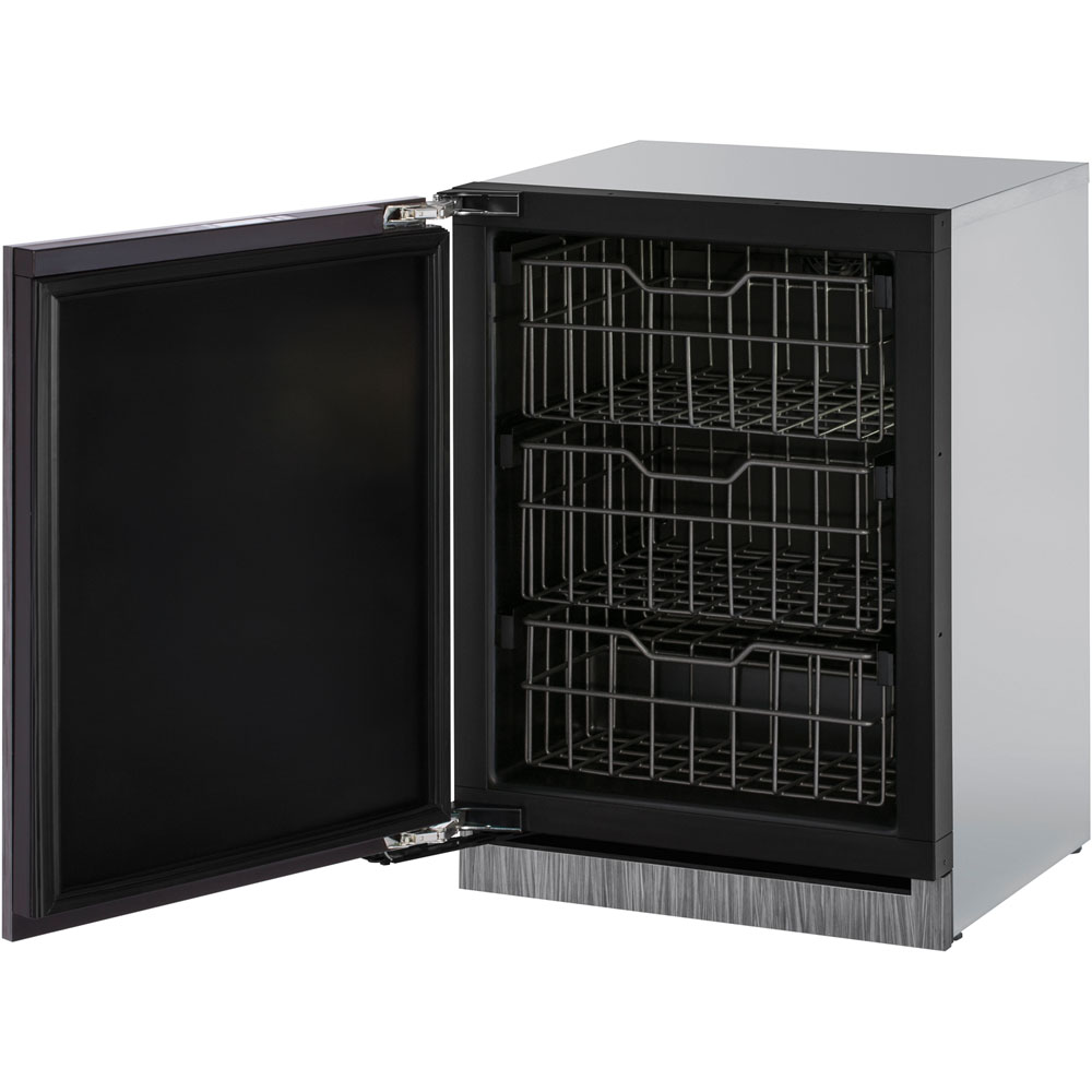 Model: U-3024FZRINT-01A | 24-In. Modular 3000 Series Integrated Solid Door Freezer with Left-Hand Hinge