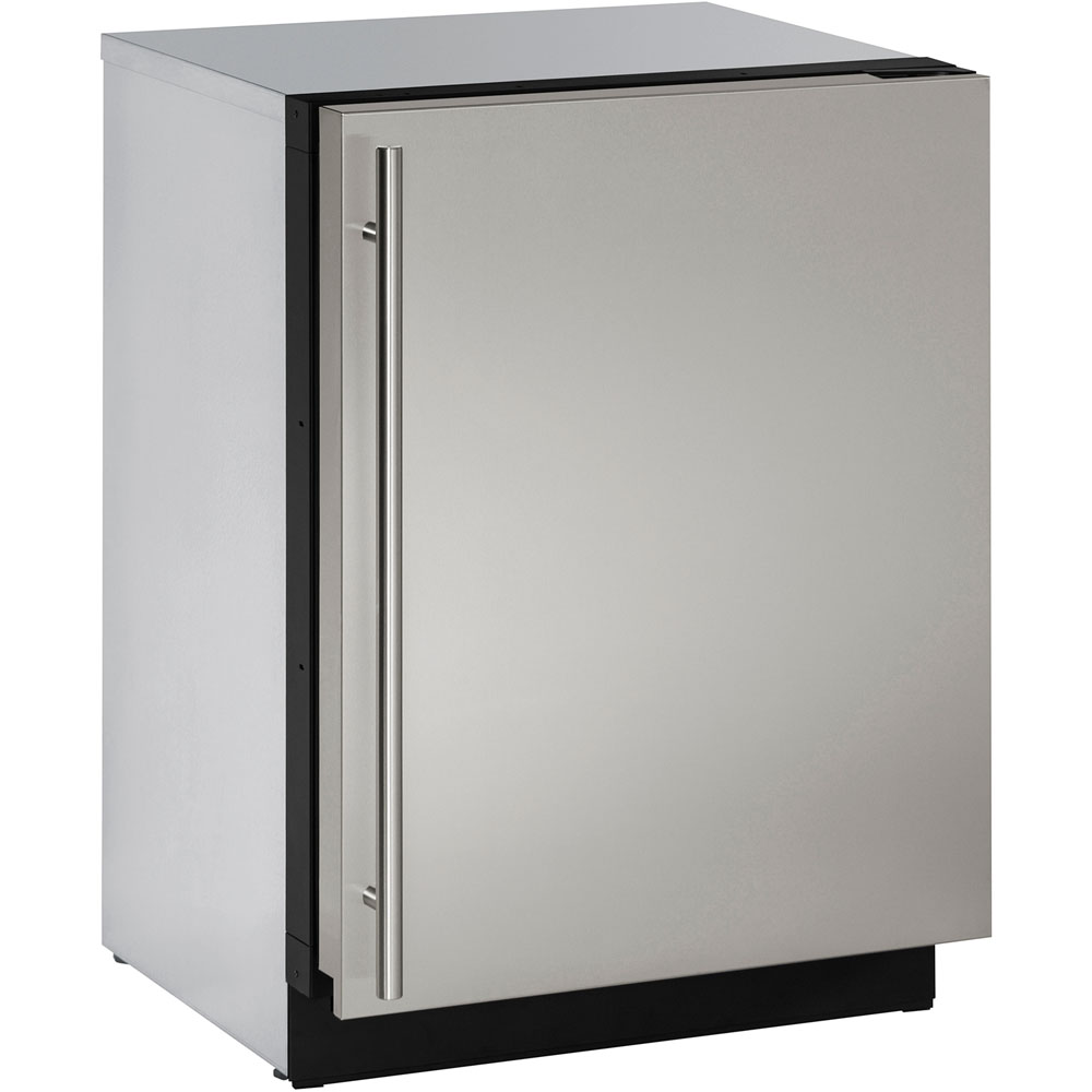 U-Line 24-In. Modular 3000 Series Stainless Solid Door Freezer with Reversible Hinge
