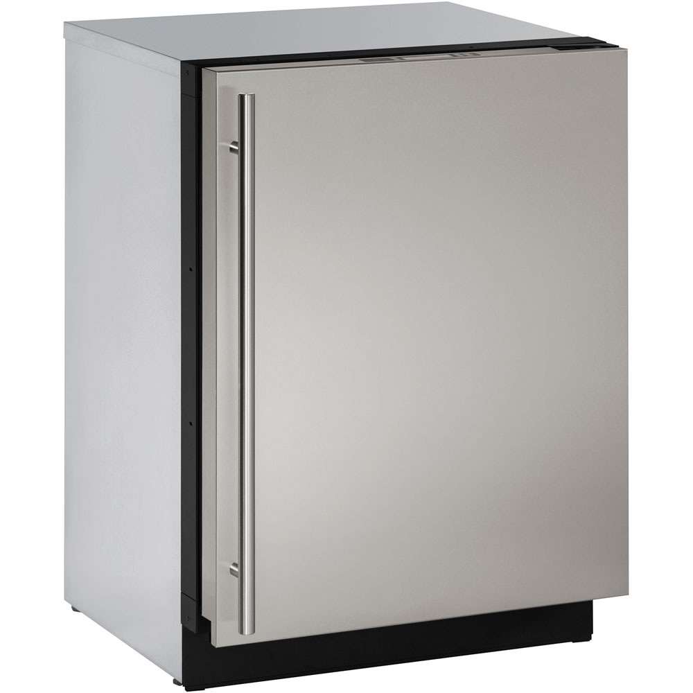 U-Line 24-In. Modular 3000 Series Stainless Solid Door Refrigerator with Right-Hand Hinge