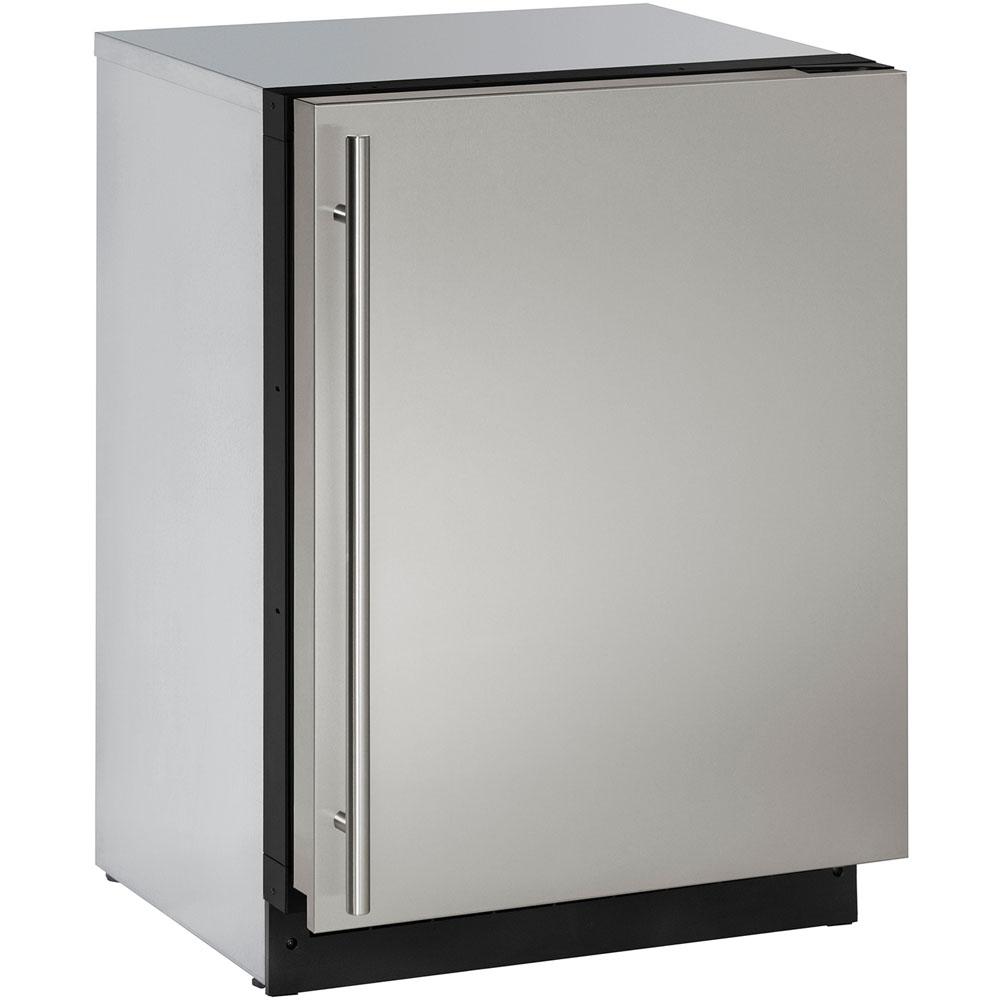 24-In. Modular 3000 Series Stainless Solid Door Refrigerator with Reversible Hinge