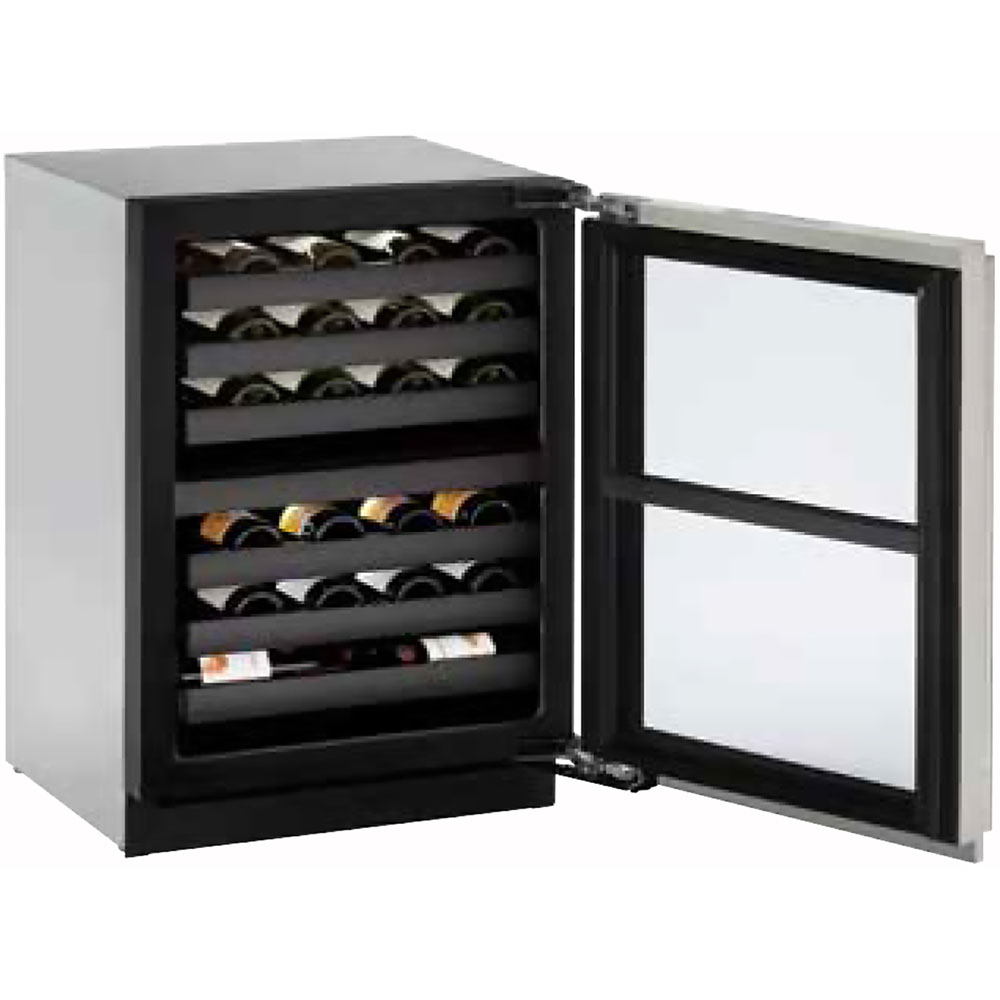 24-In. Modular 3000 Series Wine Captain with Stainless Frame Field-Reversible Door