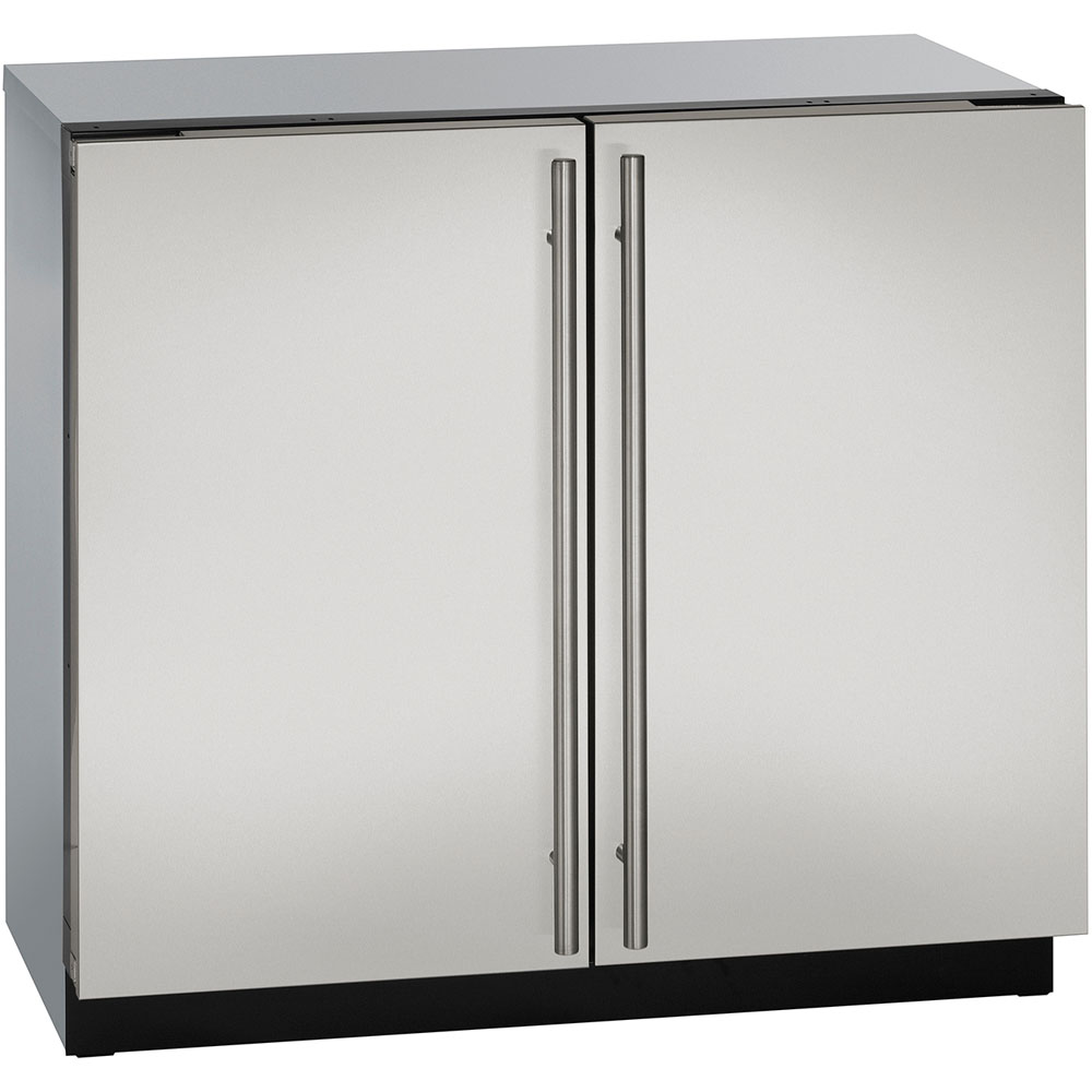 U-Line 36-In. Modular 3000 Series Stainless Solid Double-Door Refrigerator