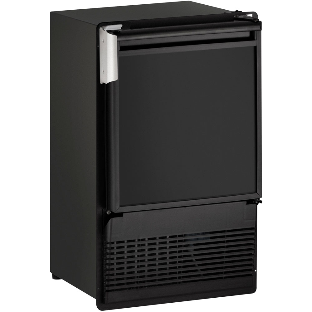 U-Line 14-In. Marine Series Black Field-Reversible 115V Crescent Ice Maker