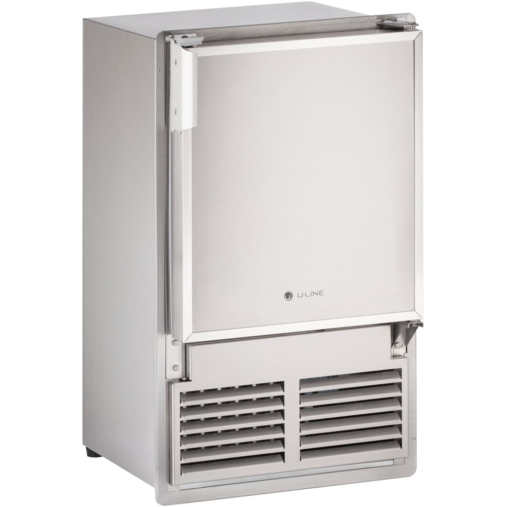 14-In. Marine Series, Stainless, Flush-to-Cabinet, 115V Crescent Ice Maker