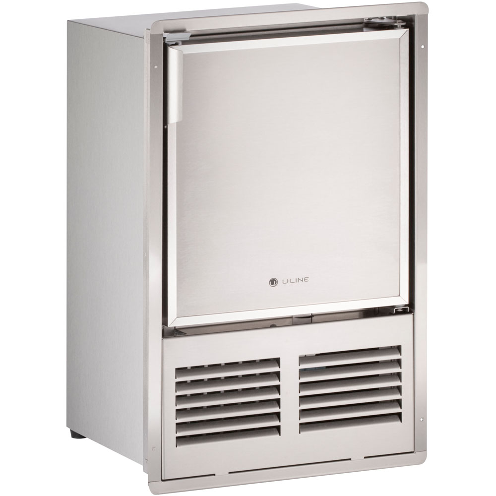 14-In. Marine Series, Stainless, Flush-to-Door, 115V Crescent Ice Maker
