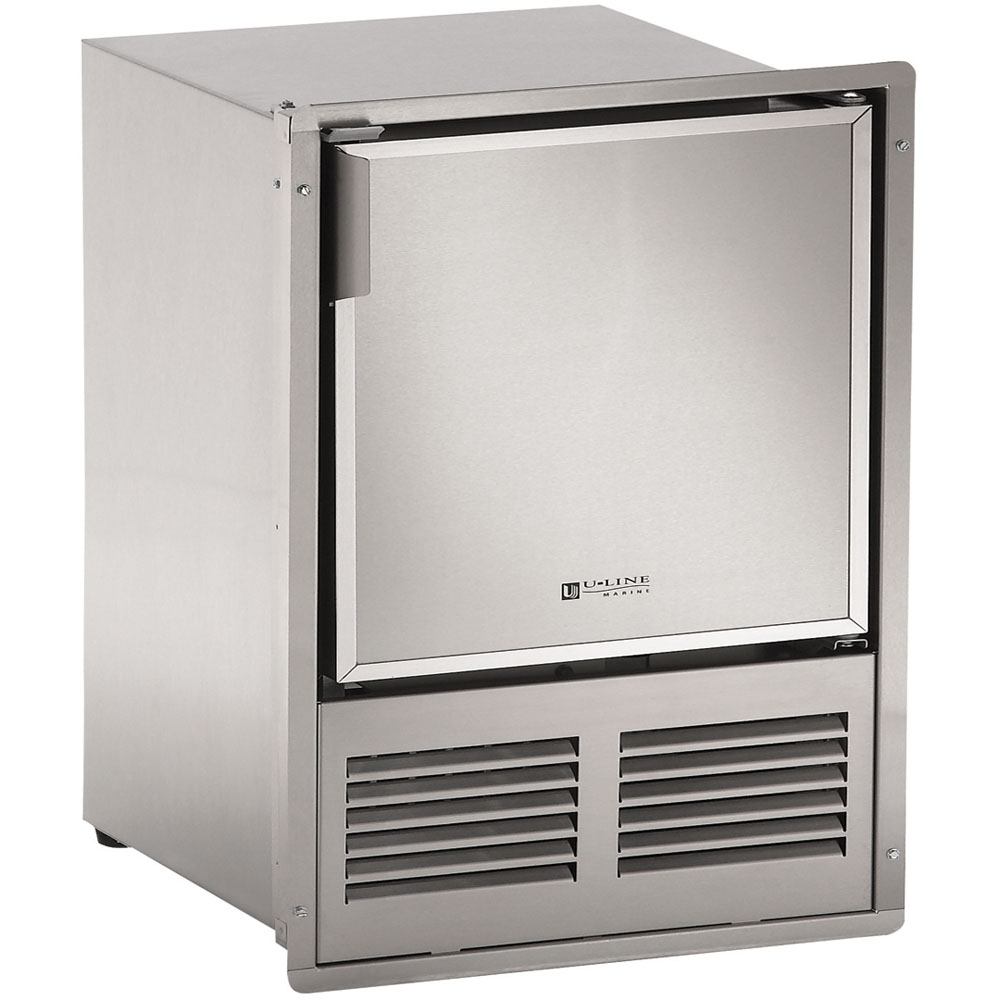 14-In. Marine Series, Stainless, Flush-to-Door, 220-240V Crescent Ice Maker