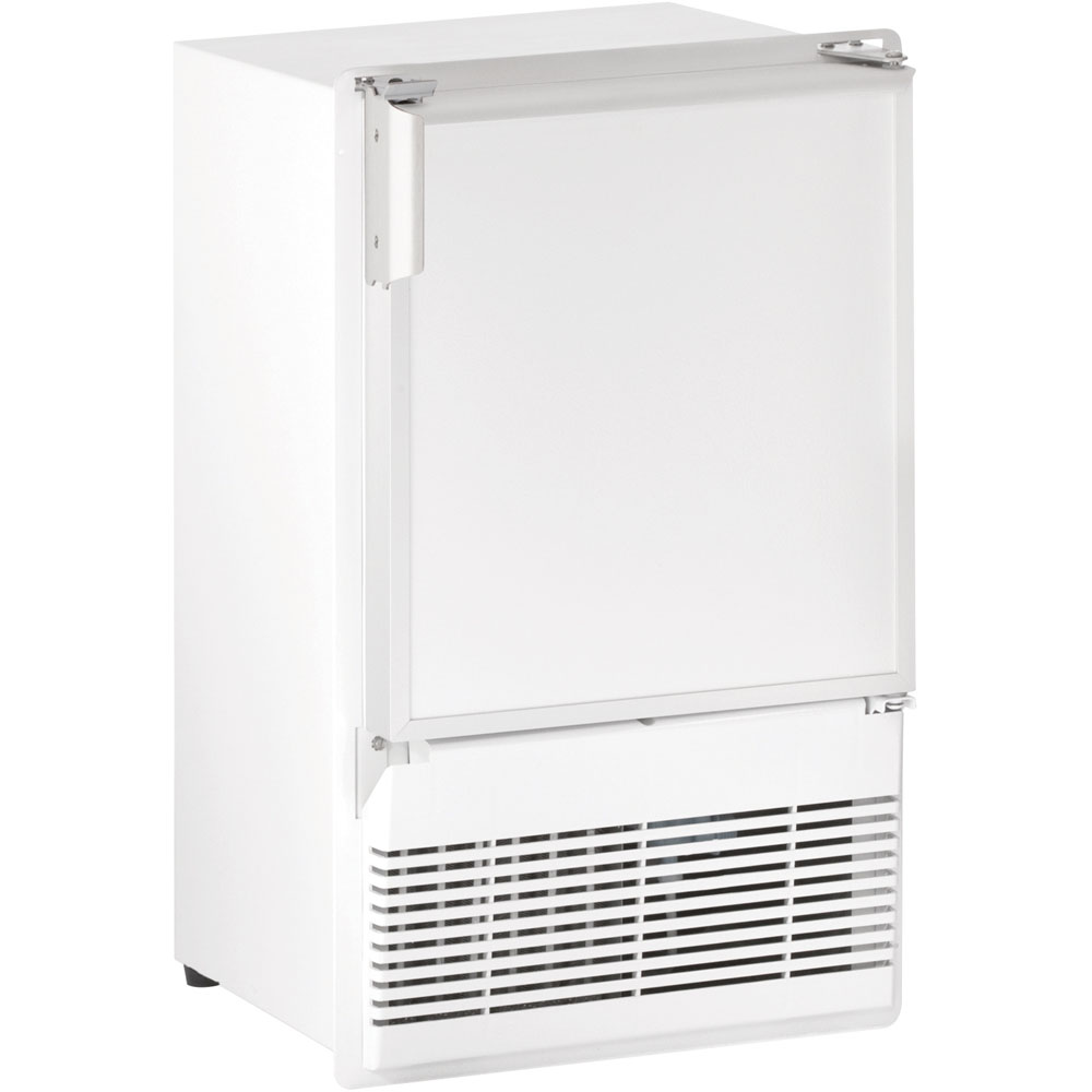 U-Line 14-In. Marine Series, White, Flange-to-Cabinet 115V Crescent Ice Maker
