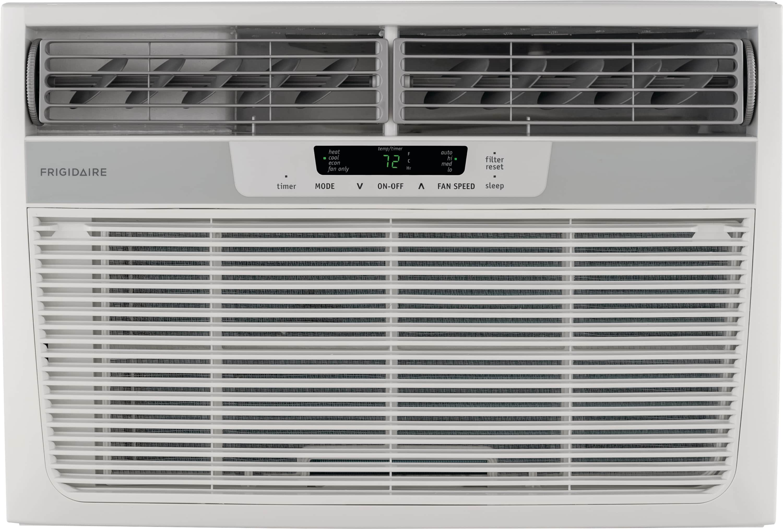 12,000 BTU Window-Mounted Room Air Conditioner with Supplemental Heat