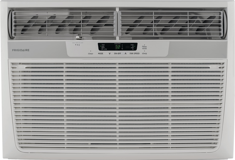 25,000 BTU Window-Mounted Room Air Conditioner with Supplemental Heat