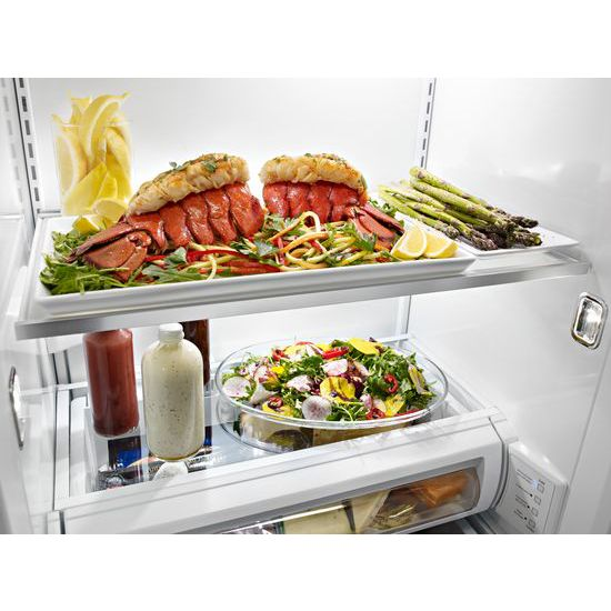 29.5 cu. ft 48-Inch Width Built-In Side by Side Refrigerator with PrintShield™ Finish