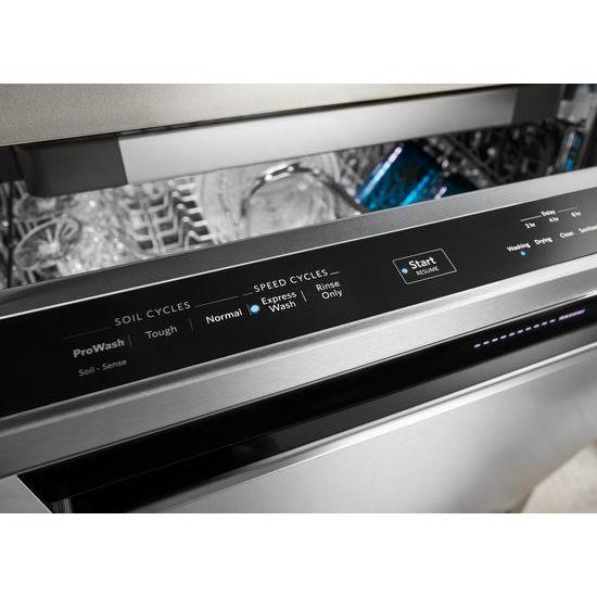 46 DBA Dishwasher with Third Level Rack and PrintShield™ Finish, Pocket Handle