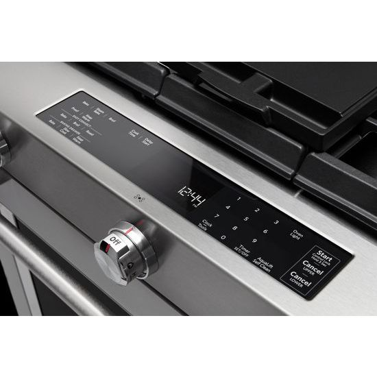 30-Inch 5-Burner Dual Fuel Convection Slide-In Range with Baking Drawer