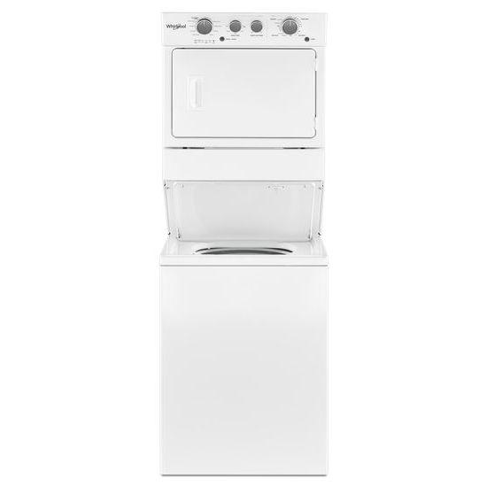 3.5 cu.ft Long Vent Gas Stacked Laundry Center 9 Wash cycles and Wrinkle Shield™