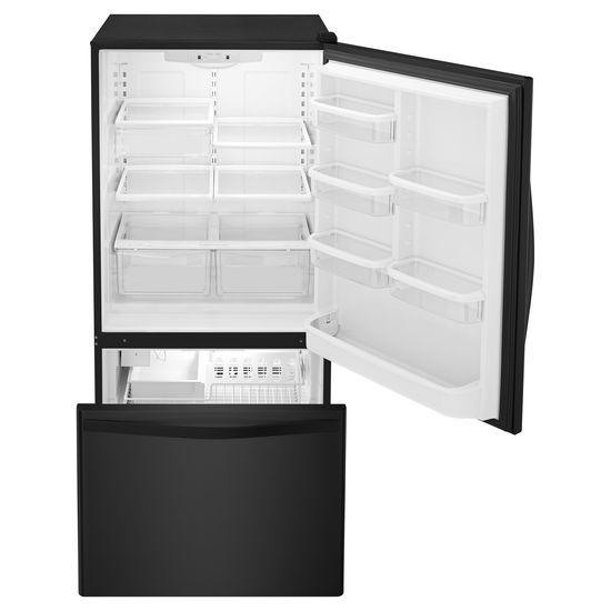 33-inches wide Bottom-Freezer Refrigerator with SpillGuard™ Glass Shelves - 22 cu. ft