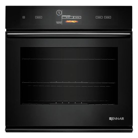 """Jenn-Air Black Floating Glass 30"""" Single Wall Oven with V2™ Vertical Dual-Fan Convection System"""