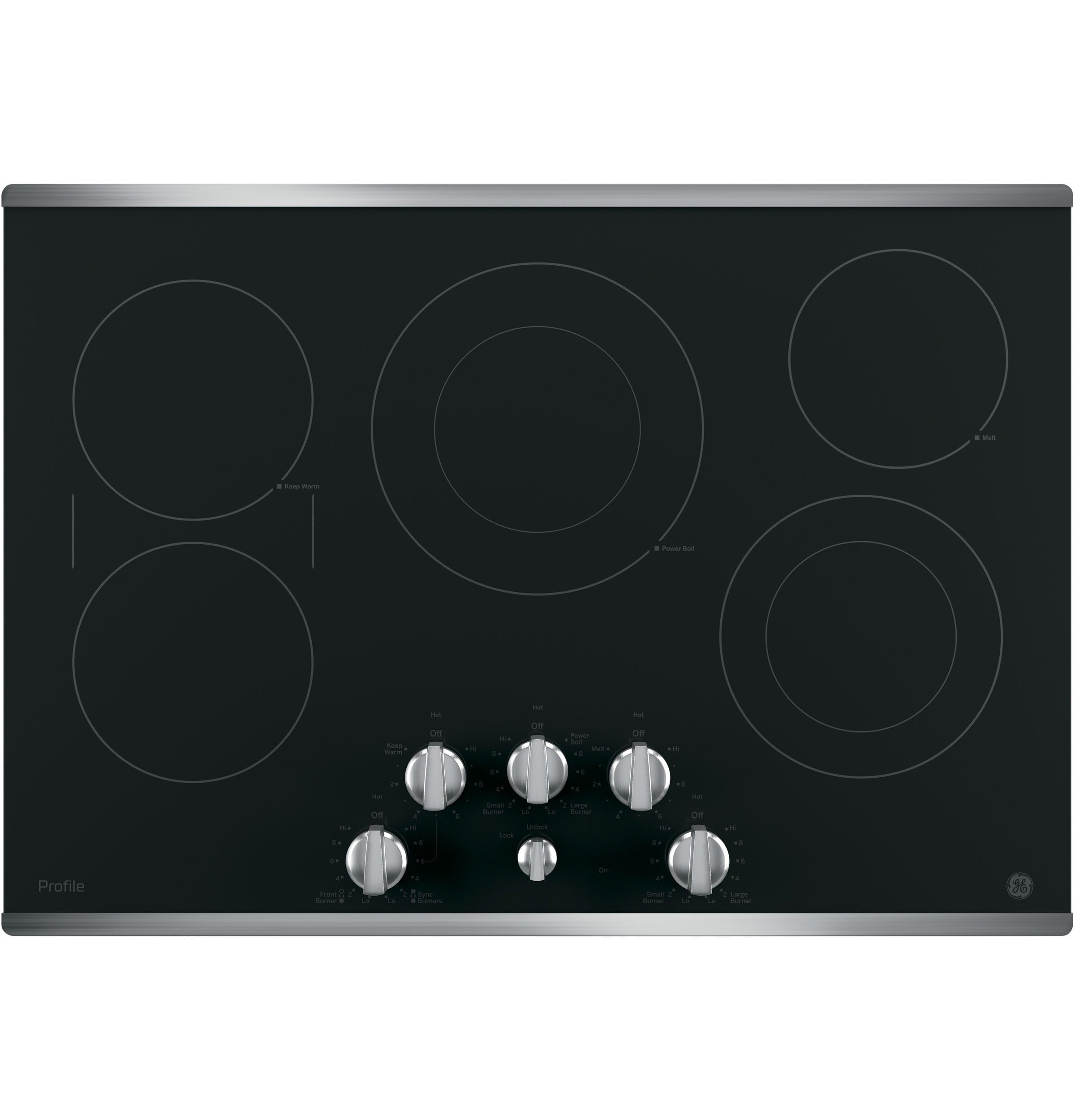 "Profile GE Profile™ 30"" Built-In Knob Control Electric Cooktop"