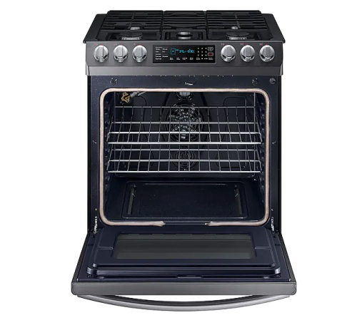 Model: NX58N9420SG | Samsung 5.8 cu. ft. Slide-in Gas Range with Fan Convection