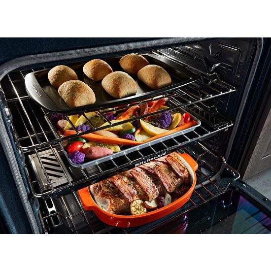 30-Inch 5-Burner Gas Slide-In Convection Range