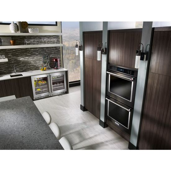"Model: KUWR304ESS | KitchenAid 24"" Stainless Steel Wine Cellar with Metal-Front Racks"