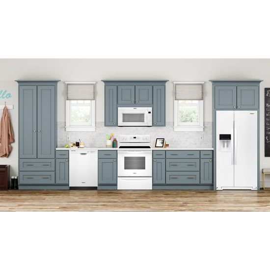 Model: WDF520PADW | Whirlpool ENERGY STAR® certified dishwasher with 1-Hour Wash cycle
