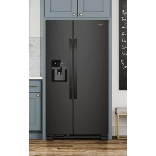 Model: WRS321SDHB | Whirlpool 33-inch Wide Side-by-Side Refrigerator - 21 cu. ft.