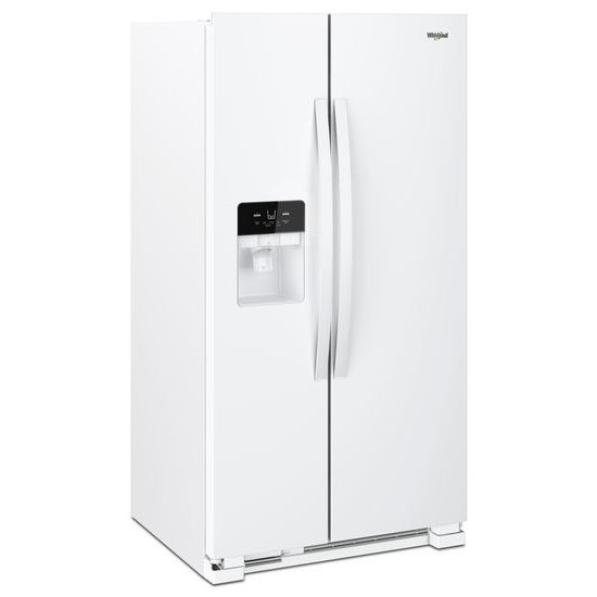 Model: WRS321SDHW | Whirlpool 33-inch Wide Side-by-Side Refrigerator - 21 cu. ft.