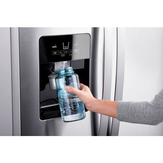Model: WRS325SDHZ | 36-inch Wide Side-by-Side Refrigerator - 25 cu. ft.