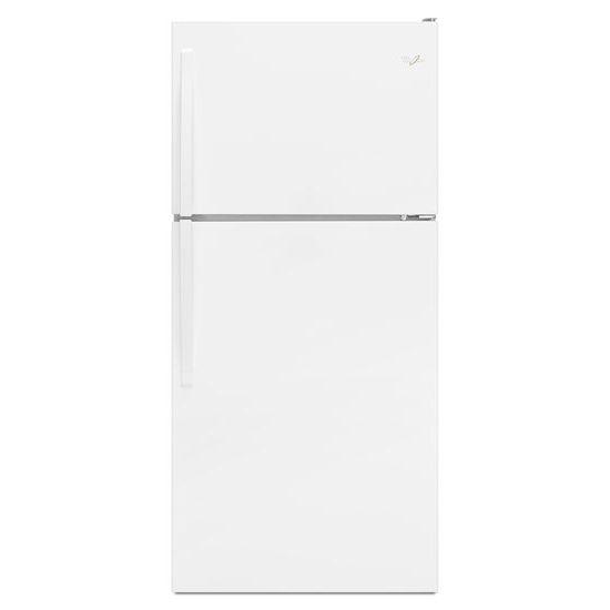 Model: WRT318FMDW | Whirlpool 30-inch Wide Top Freezer Refrigerator - 18 cu. ft.