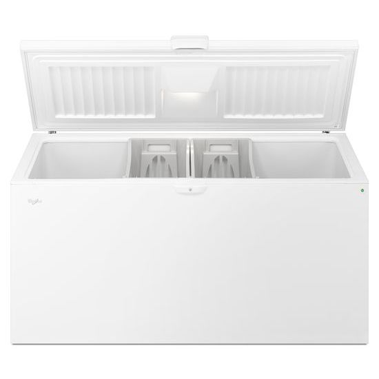 Model: WZC5422DW | Whirlpool 22 cu. ft. Chest Freezer with Extra-Large Capacity and Temperature Alarm