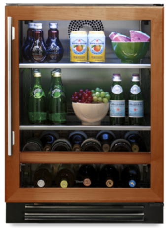 24 Inch Beverage Center with Left HInge  Overlay Panel Door (shown with right hinge door)