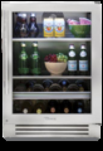 True  24 Inch Beverage Center with Left HInge Stainless Steel Frame Door (shown with right hinge door)