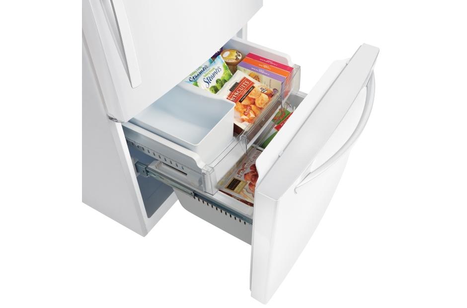 Model: LDCS24223W | LG 24 cu. ft. Bottom Freezer Refrigerator