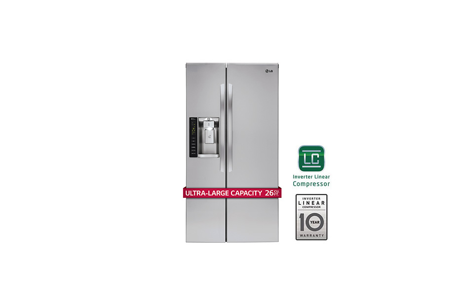 LG 26 cu. ft. Side-By-Side Refrigerator
