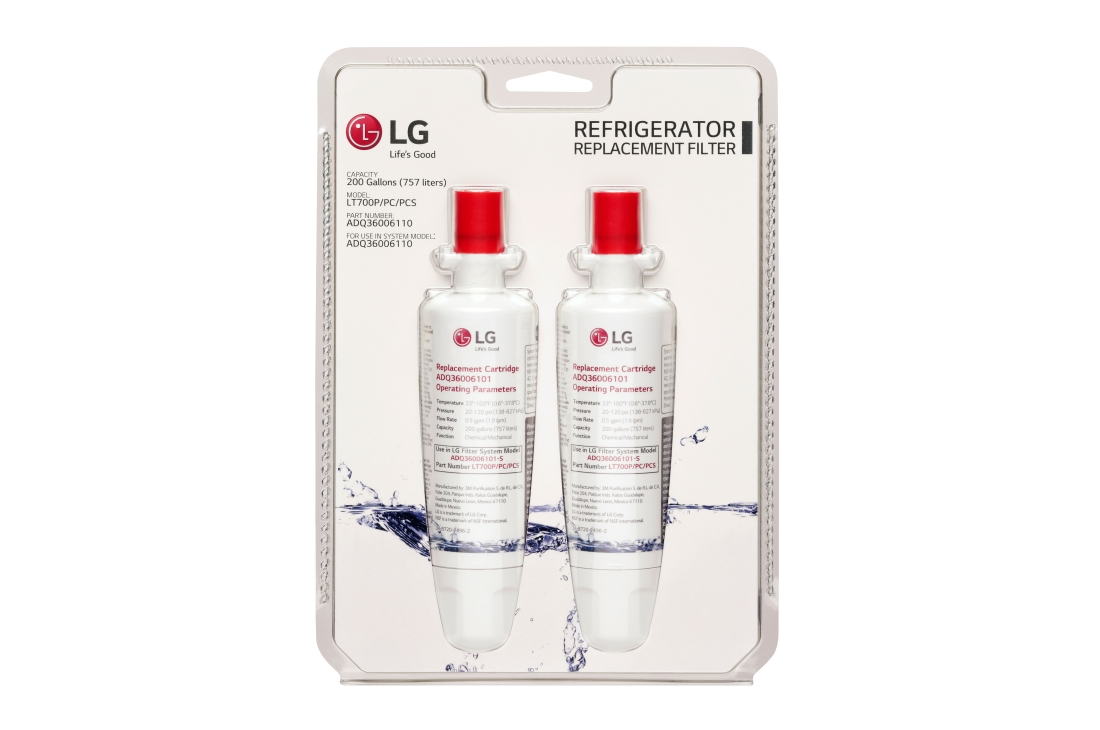 LG 6 month / 200 Gallon Capacity Replacement Refrigerator Water Filter (2 pack)
