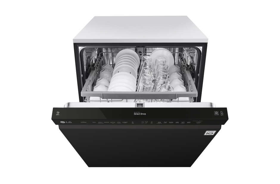 Model: LDF5545BB | LG Front Control Dishwasher with QuadWash™ and EasyRack™ Plus