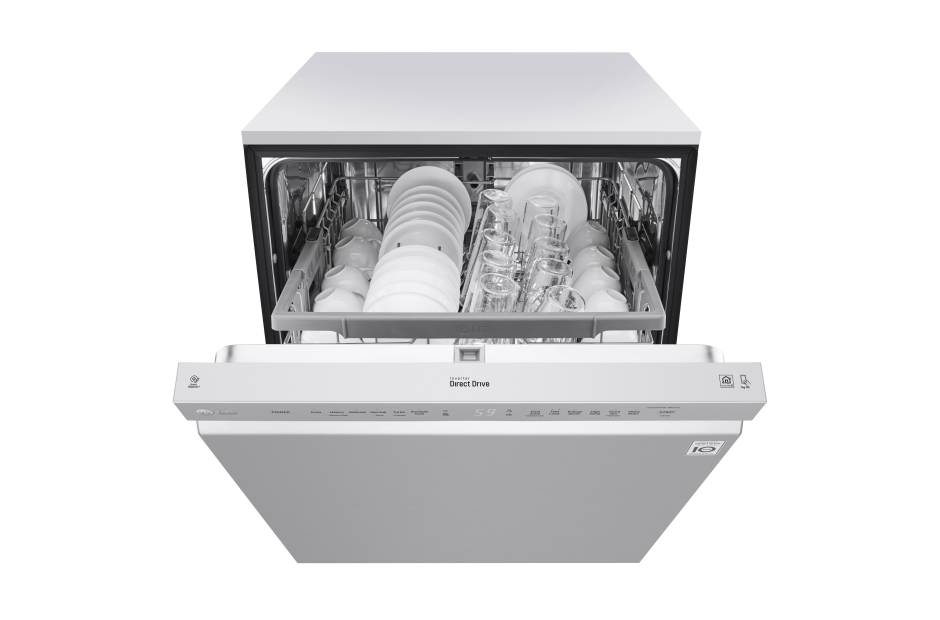 Model: LDF5545ST | LG Front Control Dishwasher with QuadWash™ and EasyRack™ Plus