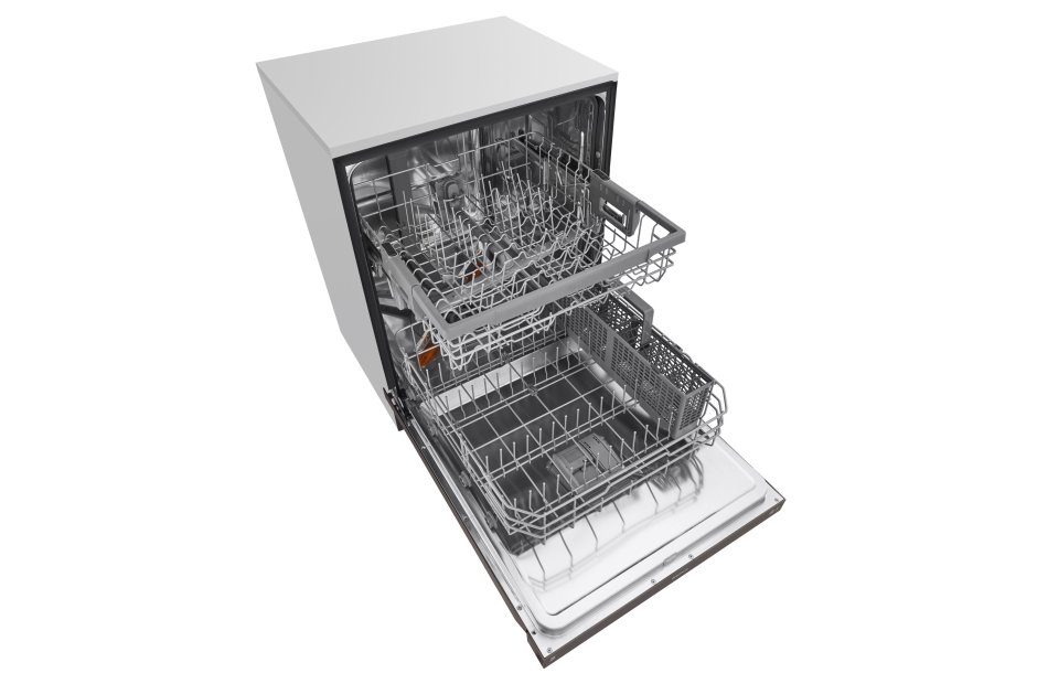 Model: LDF5545BD | LG Front Control Dishwasher with QuadWash™ and EasyRack™ Plus