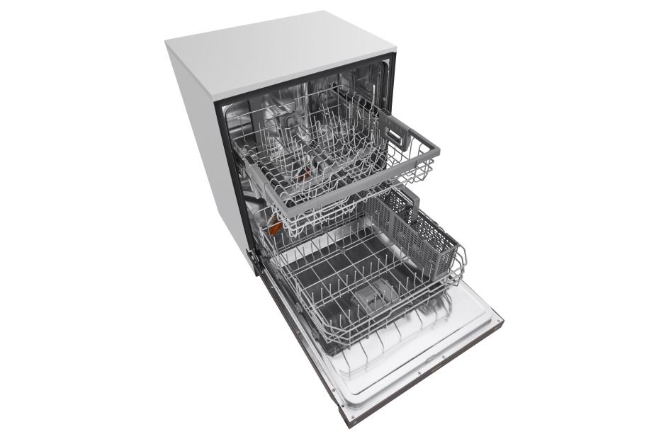 Model: LDF5545BD | LG Front Control Dishwasher with QuadWash™ and EasyRack™ Plus