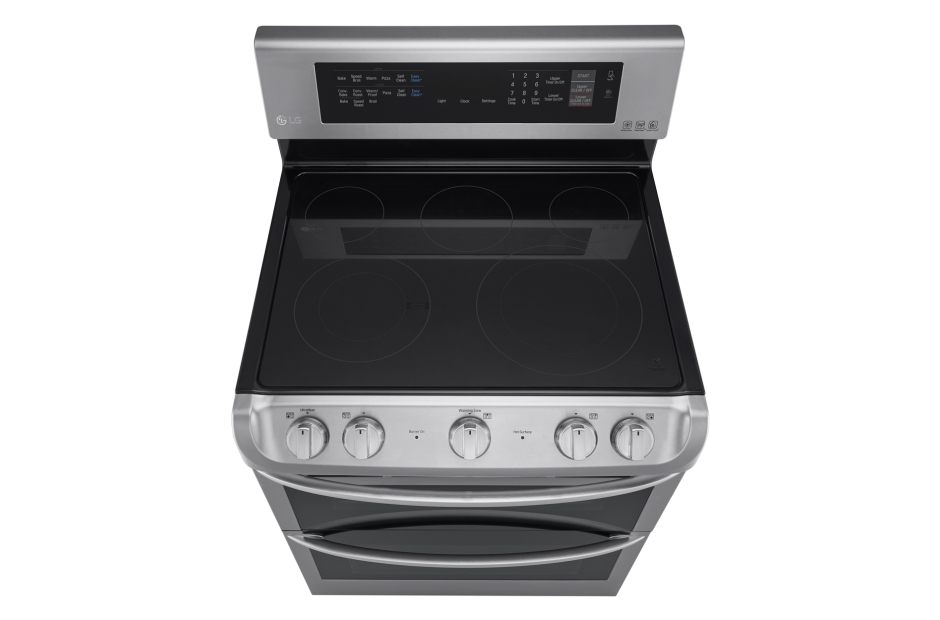 Model: LDE4413ST | LG 7.3 cu. ft. Electric Double Oven Range with ProBake Convection® and EasyClean®