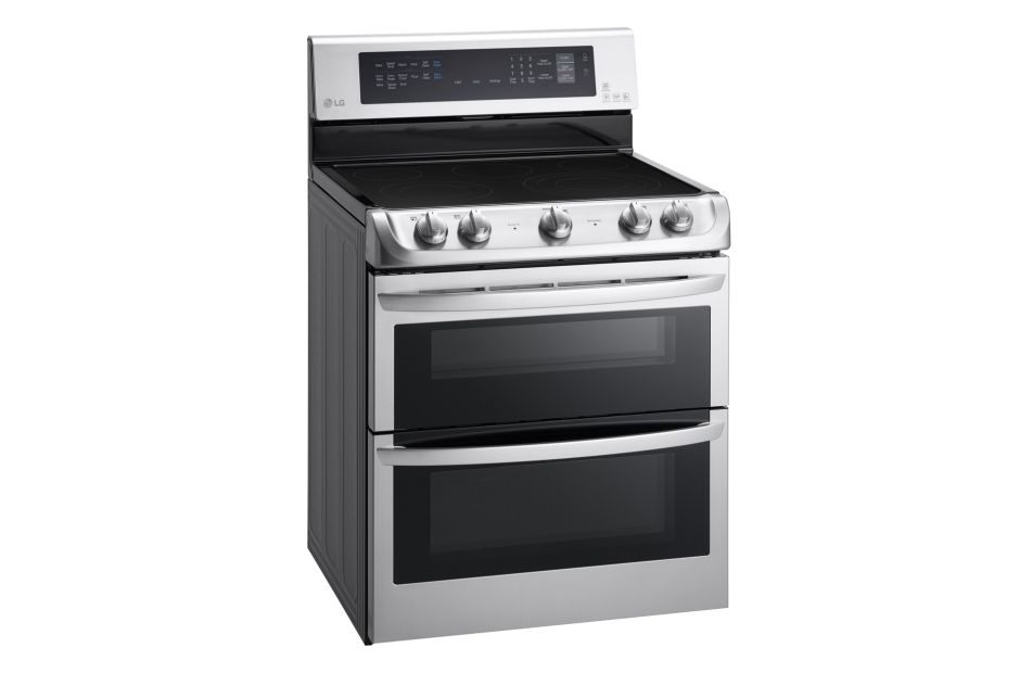 Model: LDE4415ST | LG 7.3 cu. ft. Electric Double Oven Range with ProBake Convection®, EasyClean® and Infrared Heating™ System