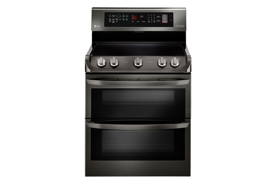 Model: LDE4415BD | LG 7.3 cu. ft. Electric Double Oven Range with ProBake Convection®, EasyClean® and Infrared Heating™ System