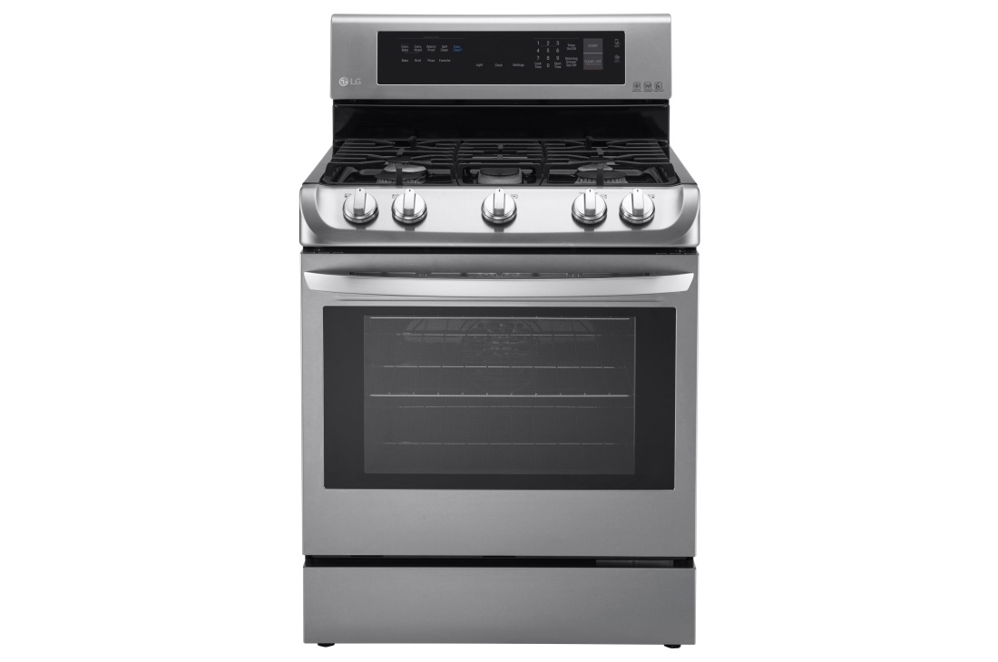 LG 6.3 cu. ft. Gas Single Oven Range with ProBake Convection® and EasyClean®