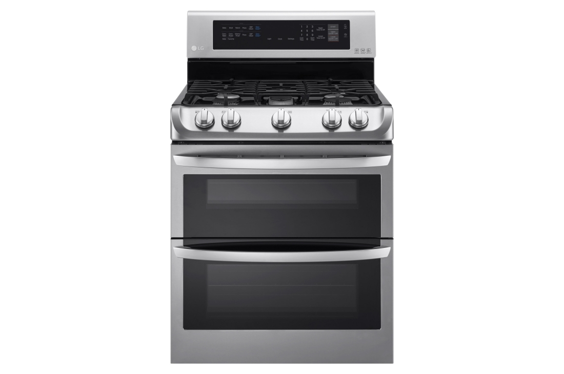 Model: LDG4313ST | LG 6.9 cu. ft. Gas Double Oven Range with ProBake Convection® and EasyClean®
