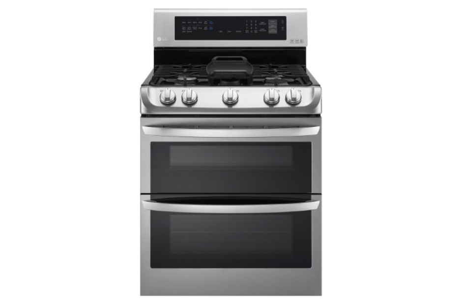 LG 6.9 cu. ft. Gas Double Oven Range with ProBake Convection®, EasyClean® and Gliding Rack