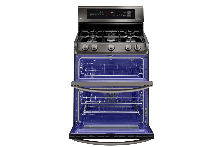 Model: LDG4315BD   LG 6.9 cu. ft. Gas Double Oven Range with ProBake Convection®, EasyClean® and Gliding Rack