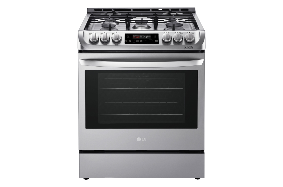 Model: LSG4511ST | LG 6.3 cu. ft. Gas Single Oven Slide-in Range with ProBake Convection® and EasyClean®